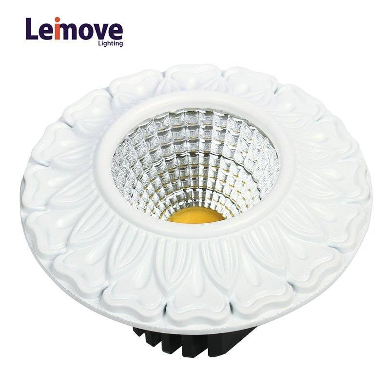 Decorative 10w Led Cob Down light LM8019 matte whlte