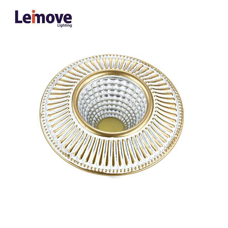 2017 New Cob Dimmable Led Downlight With 120mm Cut Out LM8018 Pearl Silver/Gold