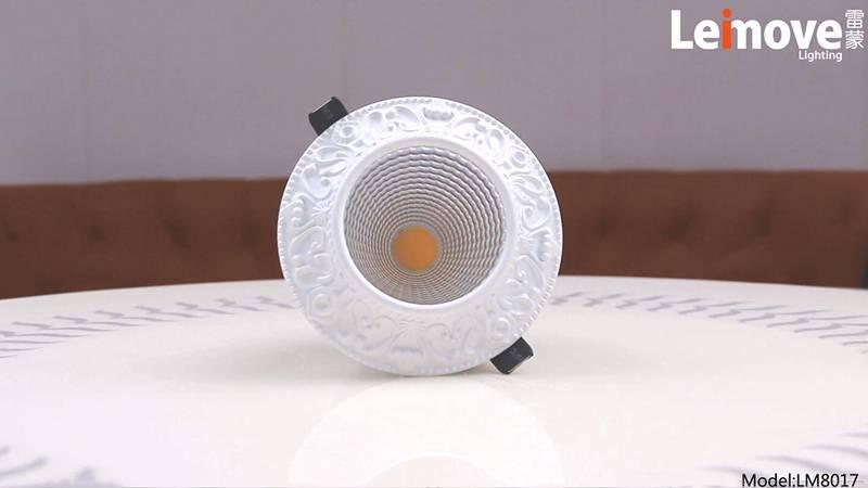 Leimove COB 3000k/4000k/6000k European Personalized Ceiling Spotlight LM8017-white-Leimove
