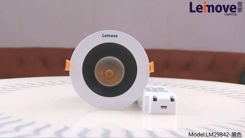 Leimove Silver Gold Black Anti-Dazzle Spotlight LM29842-black