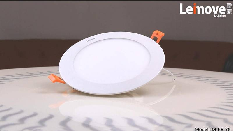 Leimove Led Round Type Ceiling Decoration Recessed Ceiling Panel Lights LM-PB-YK