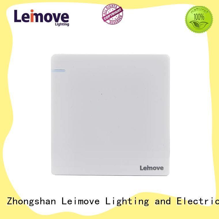 Leimove stainless steel residential light switches bulk order for decoration