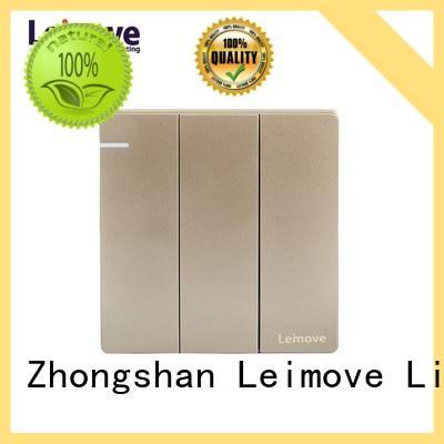 Leimove stainless steel home light switch bulk order for customization