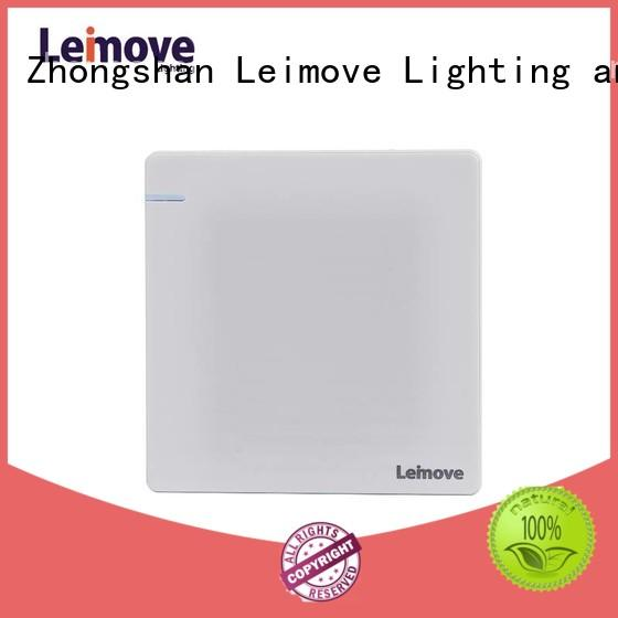 Leimove stainless steel house electrical switches universal for customization