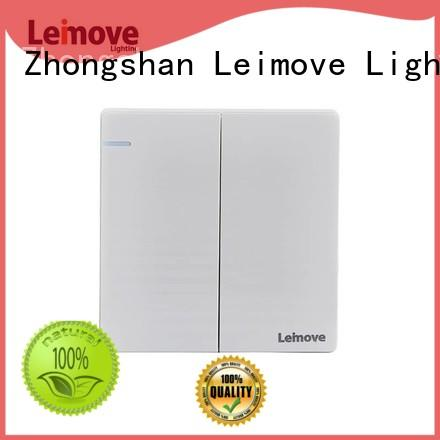 stainless steel best quality electrical switches feather white for wholesale Leimove