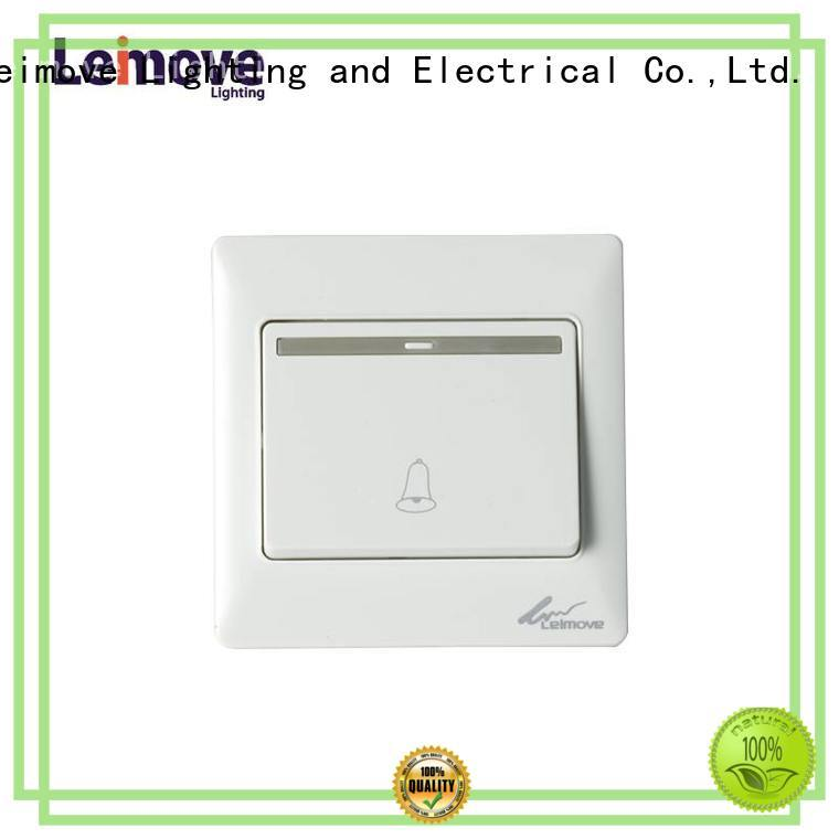 Leimove hot-sale white wall sockets wall switch for sale
