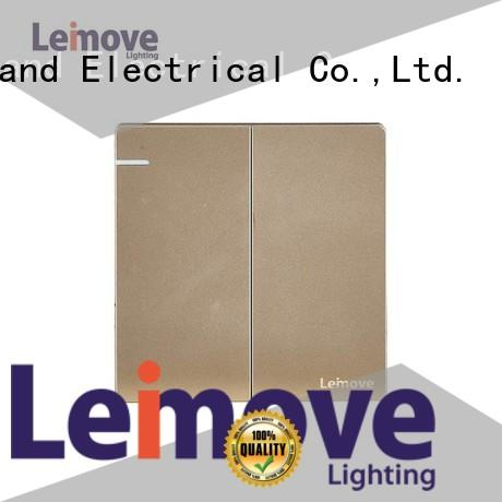 Leimove sandstone gold electric wall switch top manufacturer for wholesale