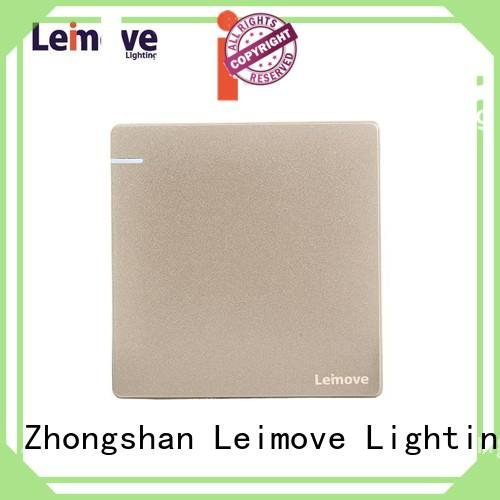 durable gold light switch universal for decoration Leimove