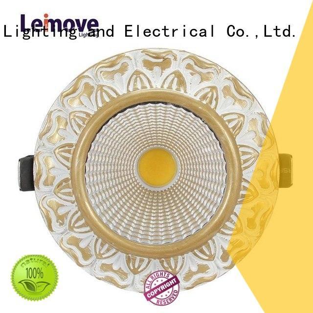 Leimove Energy-Saving LED Zinc Alloy Decoration Living Room Home Indoor light  LM8019 matte gold