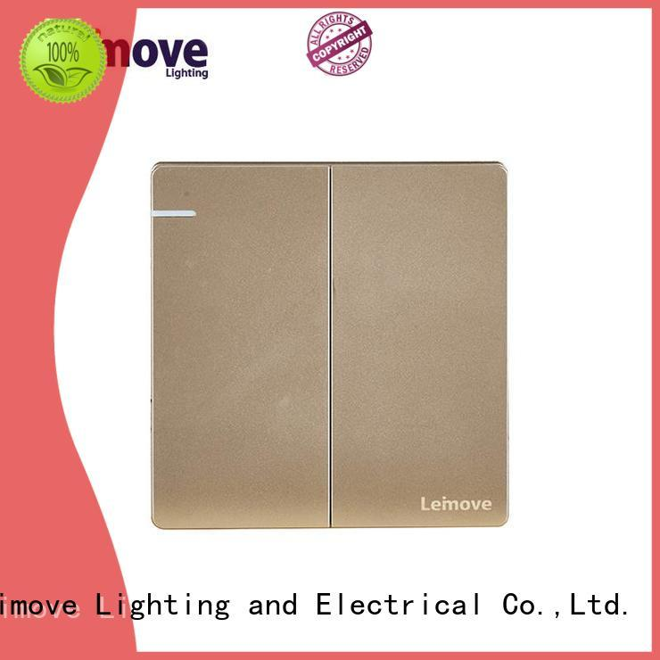 feather white electric switch design stainless steel for customization Leimove