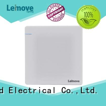 Leimove feather white black chrome light switch top manufacturer for wholesale