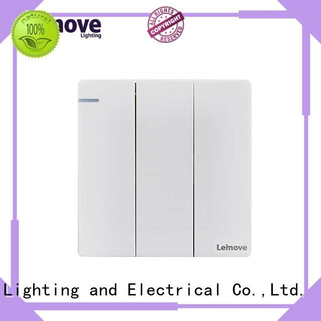 Leimove feather white new electrical switches universal for wholesale