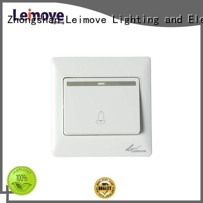 Leimove white light switches and sockets bulk order for wholesale