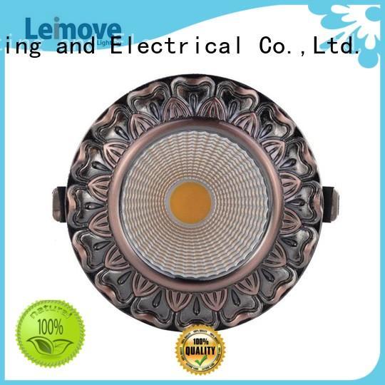 Leimove gold adjustable led spotlights ceiling for decoration