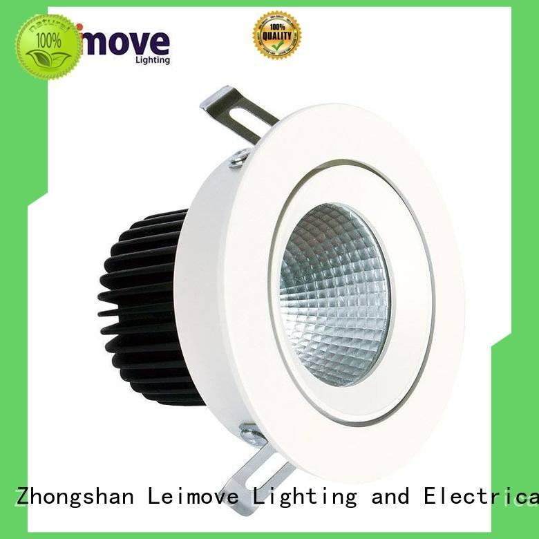 round shape dimmable led spot silver-gold for decoration Leimove