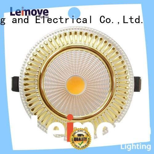 gold spotlight led lights round shape recessed for decoration