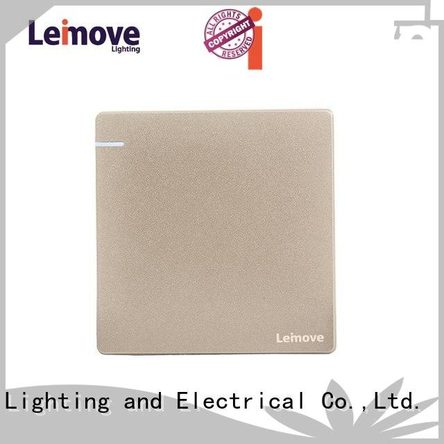 Leimove stainless steel black chrome light switch bulk order for decoration