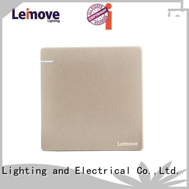Leimove stainless steel black chrome light switch bulk order for decoration