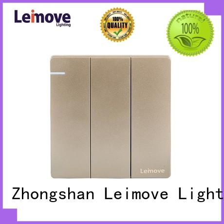 Leimove hot-sale wall switch stainless steel for customization