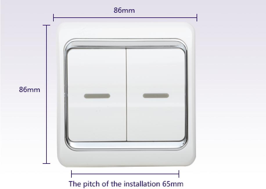 Leimove-Double Switch On Two Stilts | White Series | Leimove Lighting-1