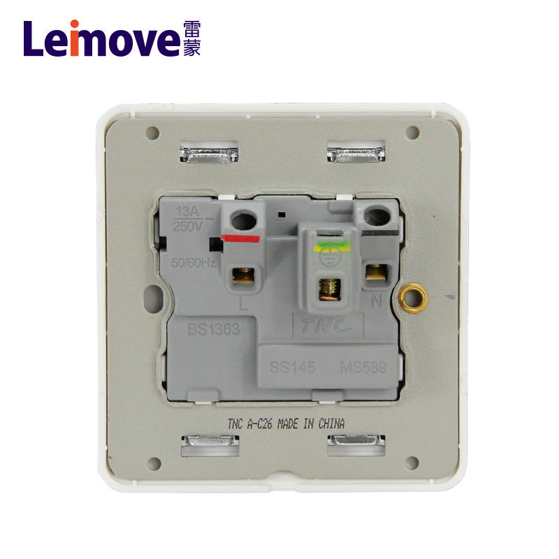 13A square foot socket with switch and light LM C26(A)