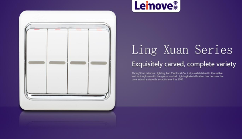 Leimove-High-quality Four-position Stilt-plate Single Connection Switch-2