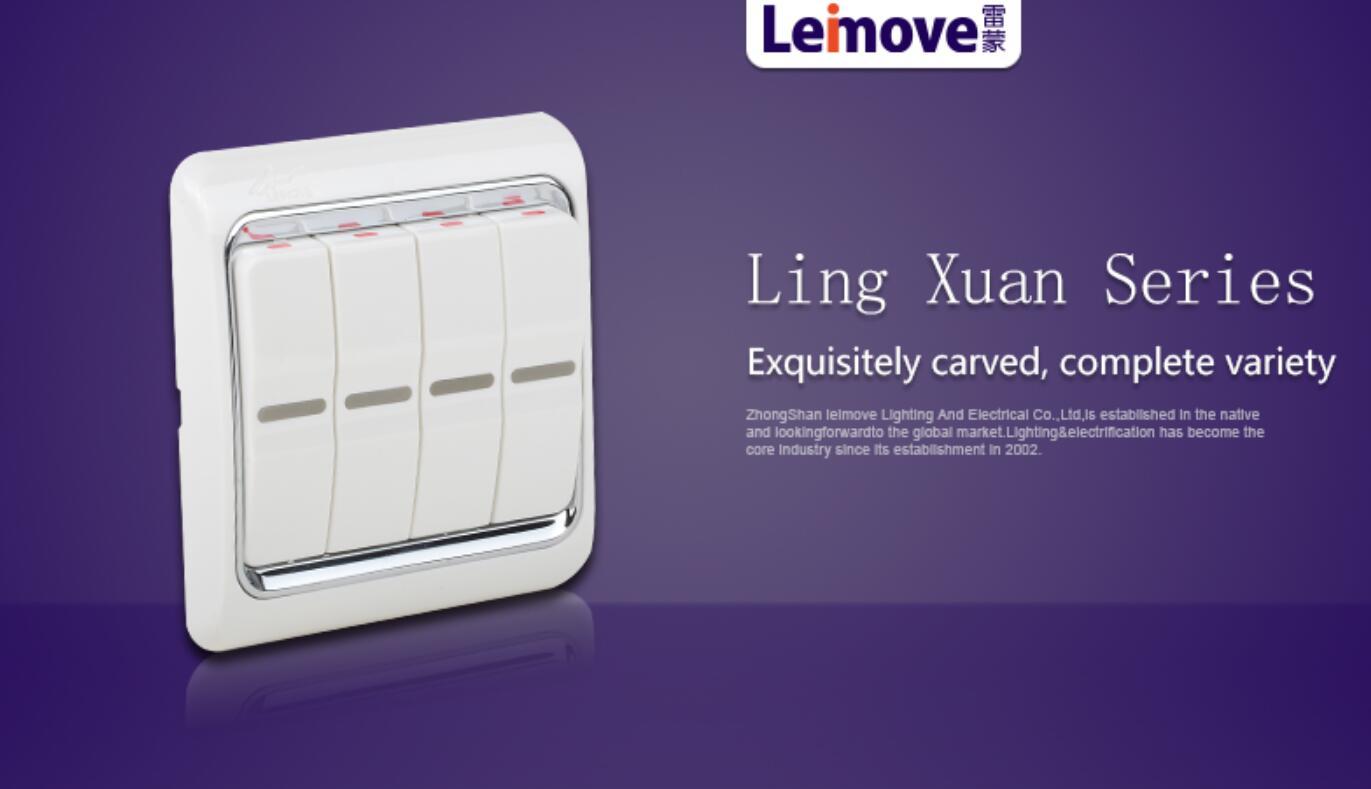 Leimove-High-quality Four-position Stilt-plate Single Connection Switch-3