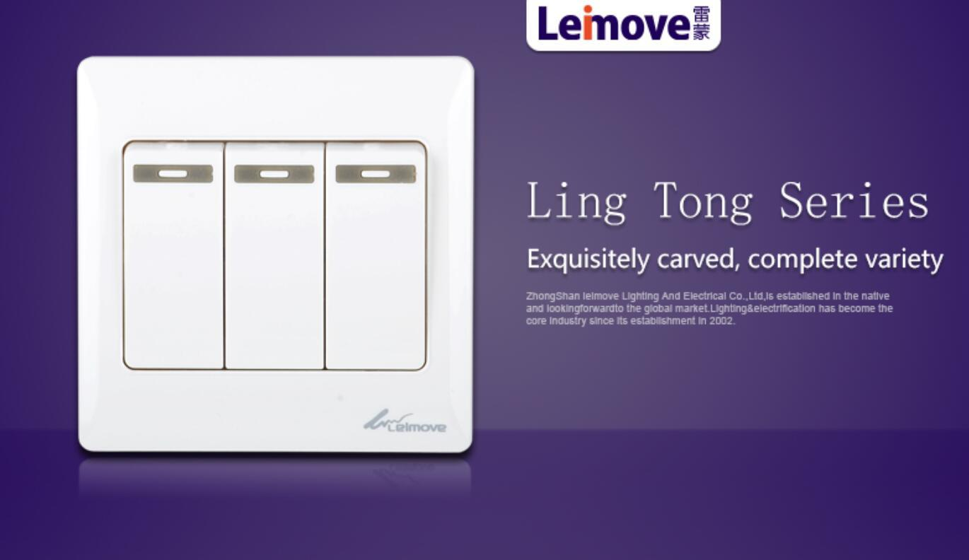 Leimove-Find Best Electrical Switches Three Big Rocker Dual Switch | Manufacture-2