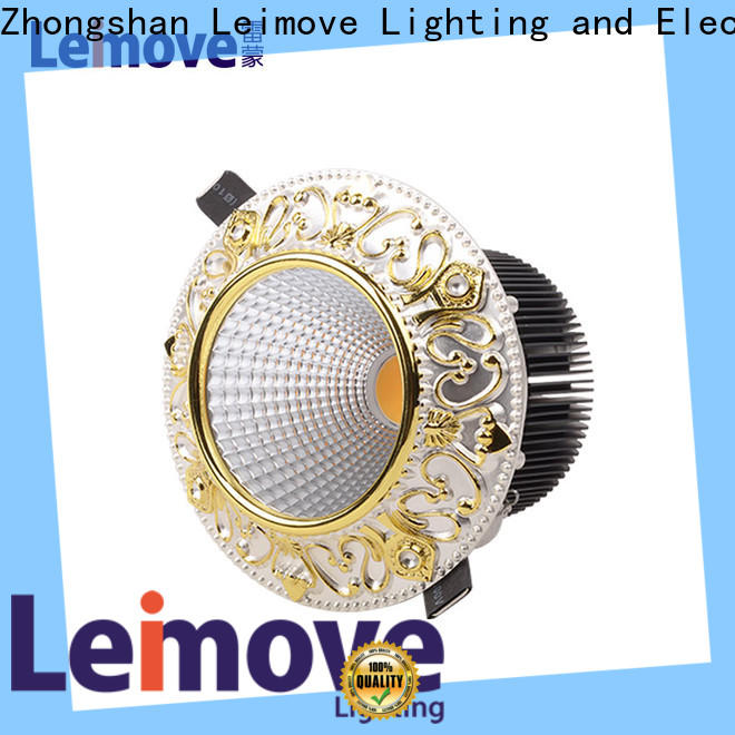 Leimove recessed led down light white milky for customization