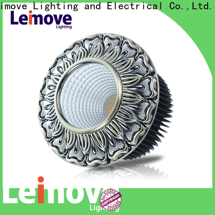 Leimove round led down light white milky for customization