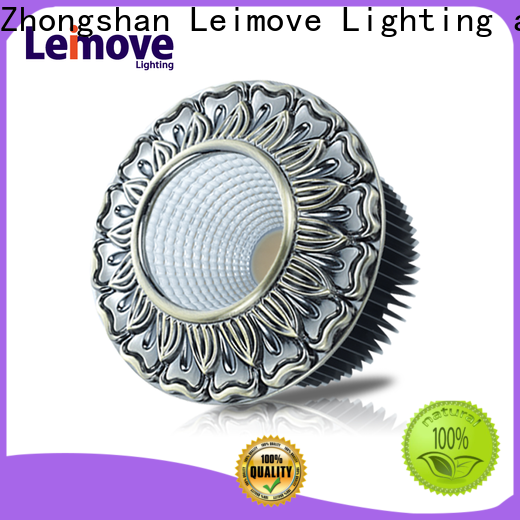 Leimove round slim led downlights white milky for customization