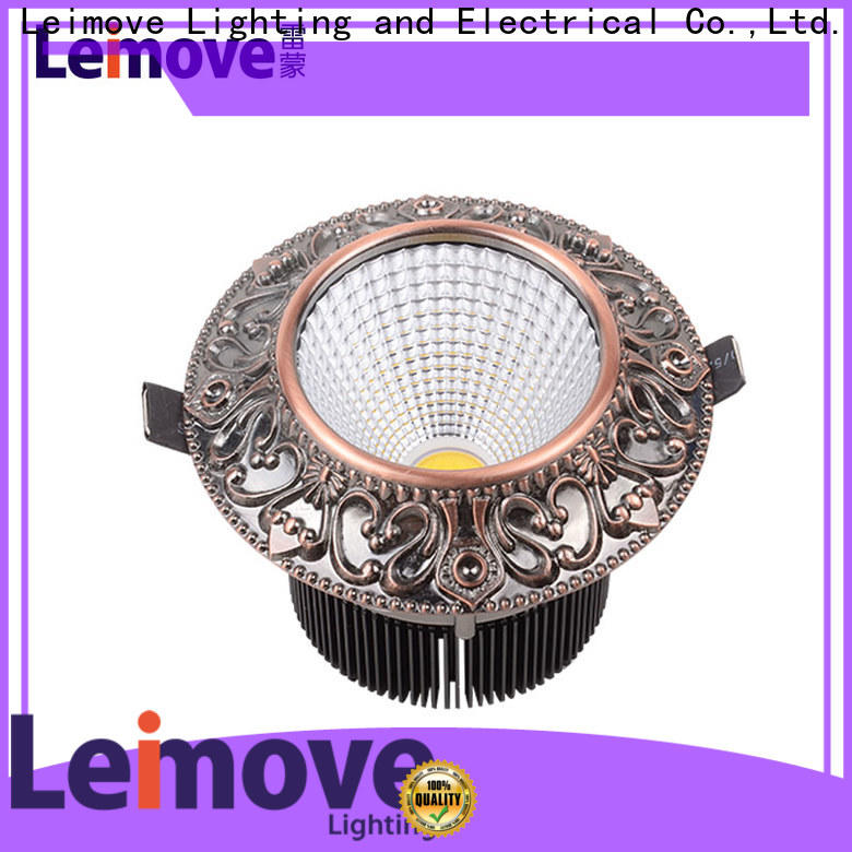 Leimove recessed slim led downlights white milky for customization