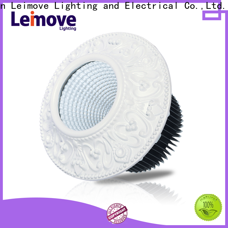 commercial illumination outdoor led downlights anti-dazzling white milky for customization