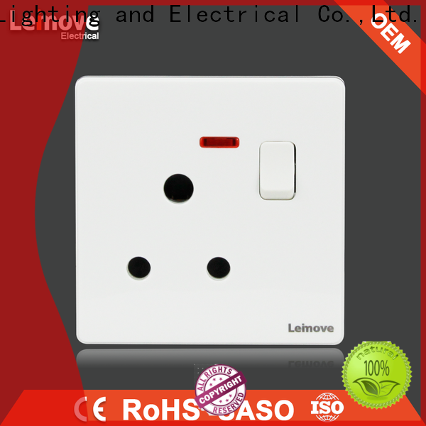 Leimove flame retardant electric switch easy assembly lighting accessories