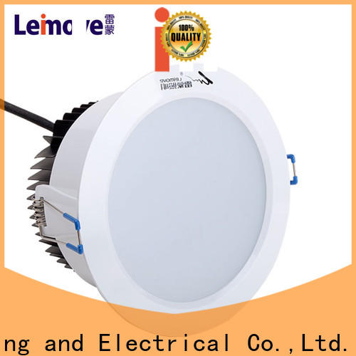 Leimove round adjustable led downlights white milky for sale
