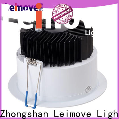 Leimove recessed adjustable led downlights white milky for sale