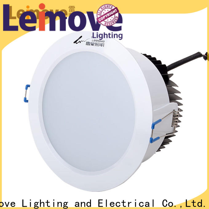 Leimove round dimmable led downlights surface mounted for customization
