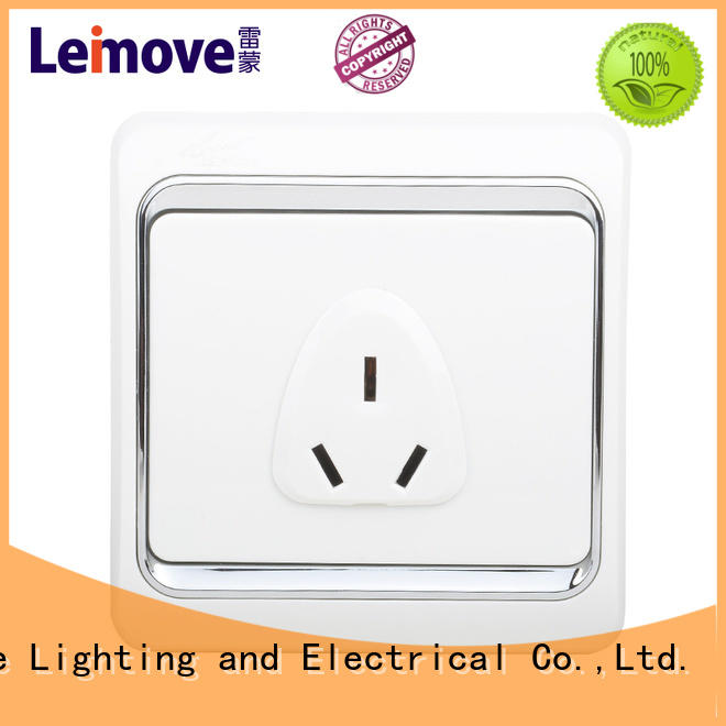 Leimove square foot wall power socket OBM at discount