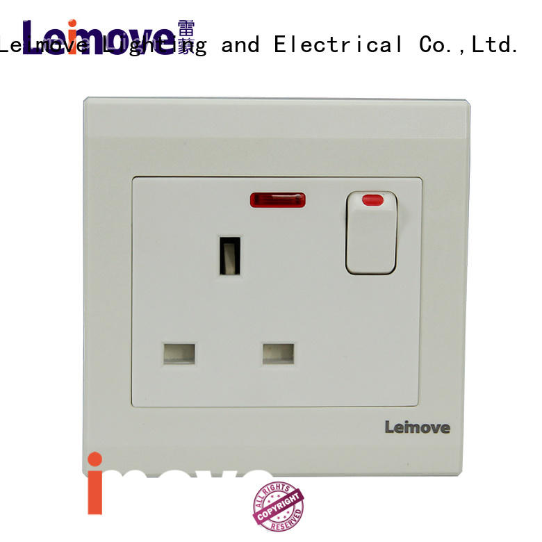 Leimove cheapest factory price electrical outlet socket top brand bulk production