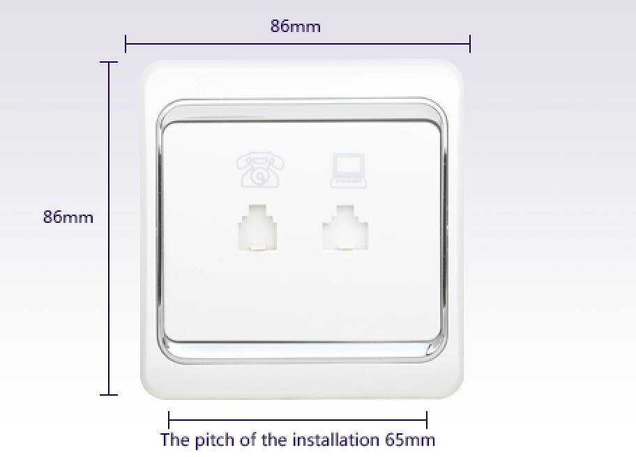 Leimove custom white electric sockets at discount for phone-2