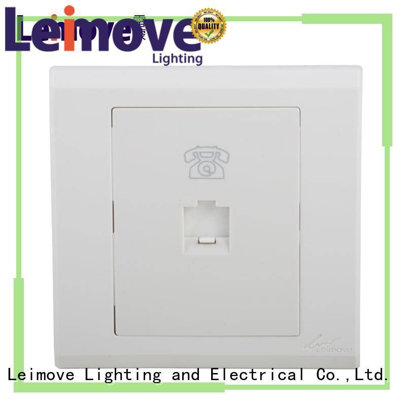 Leimove applicable screwless white sockets wholesale for telephone
