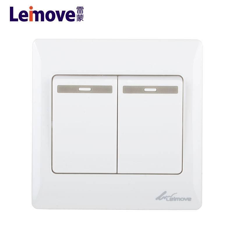 Two large rocker dual switch