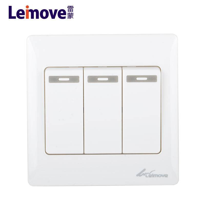 Leimove Brand electric wall two electrical on off switch