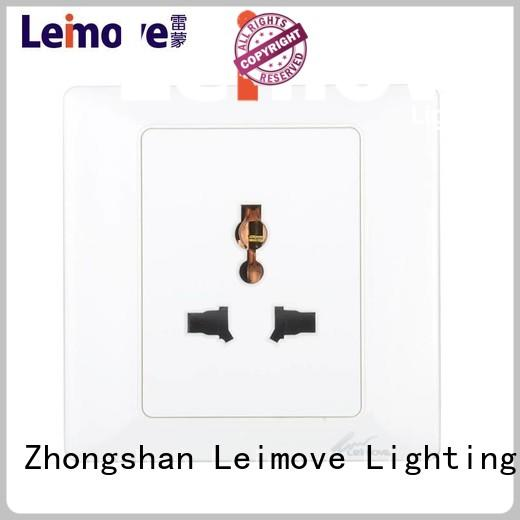 Leimove Brand shaver multi wall socket outlet manufacture