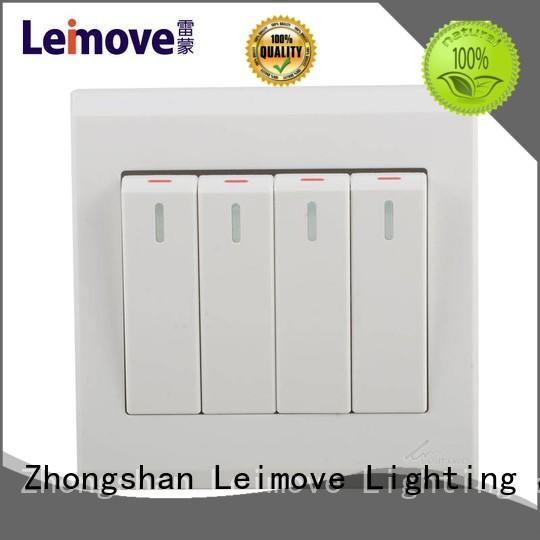 Leimove custom wall switch bulk production for tv