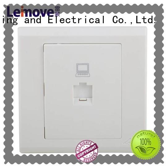 Leimove energy-saving screwless white sockets wholesale for tv