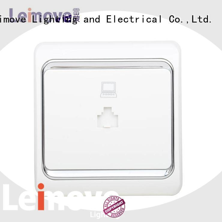 Leimove bulk production white plug sockets cheapest factory price for computer
