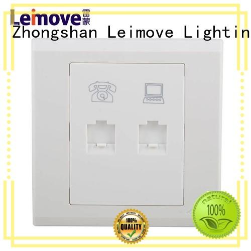 Leimove multi-functional screwless white sockets wholesale for tv
