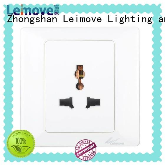 Leimove waterproof wall plug socket for customization