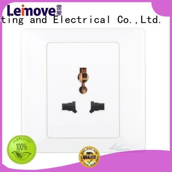waterproof double Leimove Brand wall power socket